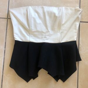 Strapless Leather Top